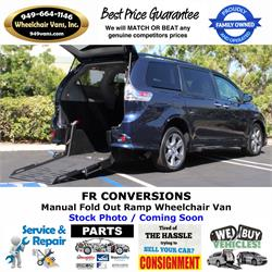 NEW 2020 Toyota Sienna Manual Fold Out Ramp Rear Loading Wheelchair Van by FR Conversions